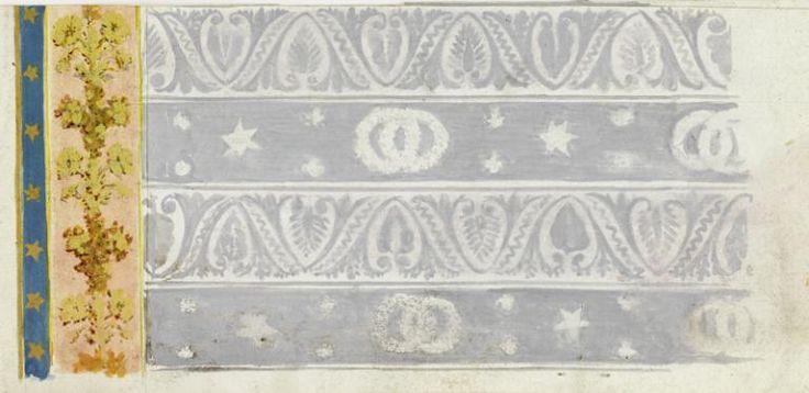 Jean-François Bony (Givors, 24 février 1754 - Paris, 1825) (dessinateur) ; Camille Pernon (Lyon, 3 novembre 1753 - Sainte-Foy-lès-Lyon, 14 décembre 1808) (fabricant), Projet pour la bordure et les rideaux du lit de Joséphine Bonaparte au Palais de Saint-Cloud, dessin turc  France, vers 1802. MAD 3135. Acquis en vente publique à Drouot, 1990 © Musée des Arts décoratifs de Lyon, Sylvain Pretto
