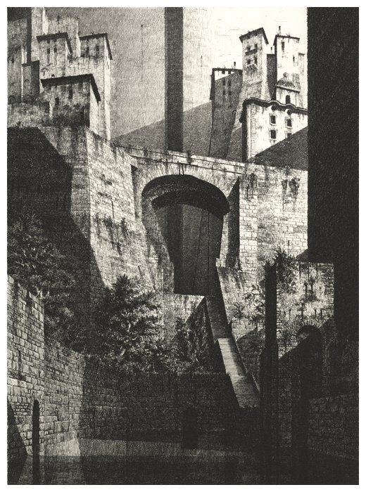 Gérard Trignac was born in 1955 in Bordeaux, where he attended the Bordeaux School of Architecture. After an exhibition at  Condillac Gallery (1980), a 1st prize in drawing by the city of Bordeaux (1981), an etching grant from the Academy of Fine Arts (1981) and a stay at Casa Velasquez Madrid (1982), he illustrated numerous books, such as Tristan and Isolde, Ode to Paris, L´ Immortal JL Borges, and Invisible Cities by Italo Calvino. Each of his prints begins with a detailed sketch which is…