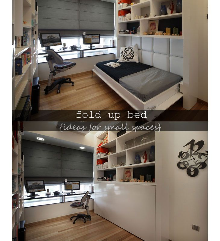 1000 images about small space decorating ideas on pinterest - Fold up beds for small spaces ...