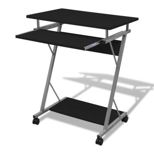Computertisch Schreibtisch Bürotisch Computerwagen PC-Tisch auf Rollen schwarz#Ssparen25.com , sparen25.de , sparen25.info