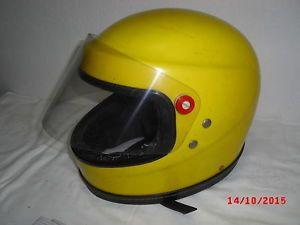 gelbe-Sturzhelm-DDR-Integralhelm-ca-Groesse-52-54-Motorradhelm-Ostalgie-Simson