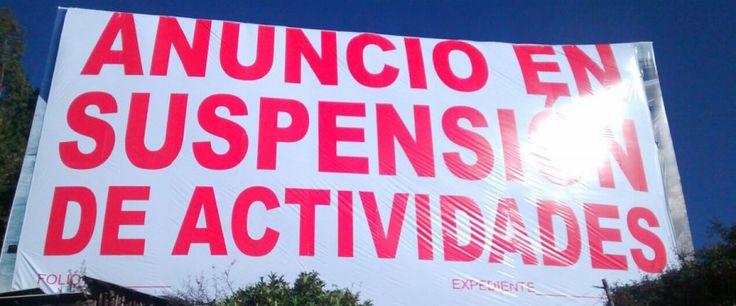 Suspenden anuncios espectaculares en la carretera México-Toluca