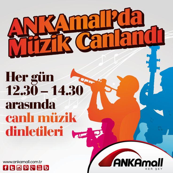 #ANKAmall'da Müzik Canlandı! Hergün 12:30 - 14:30 saatleri arasında Canlı Müzik Dinletileri!