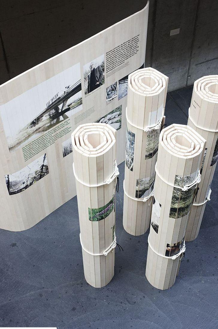 Rolled exibition design