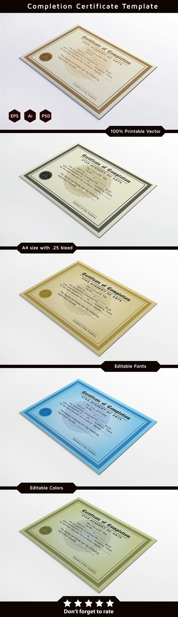 17 best images about certificate design gift completion certificate design