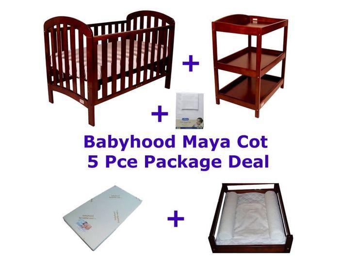 Babyhood Maya 5 Piece Cot Package Deal