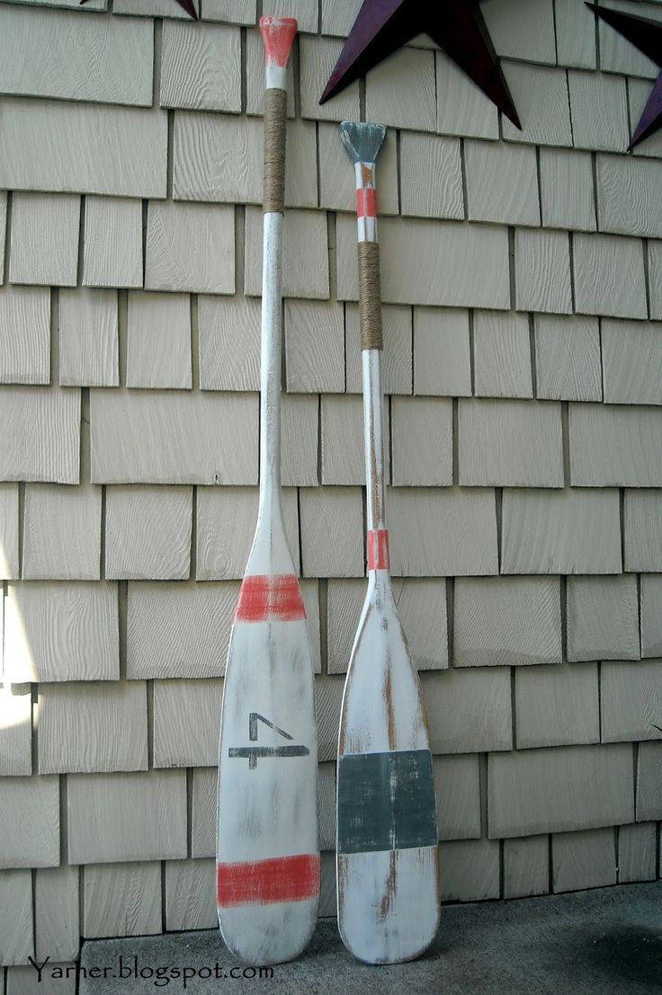 Im a Yarner Painted Oars  Paddles  Pinterest  Painted