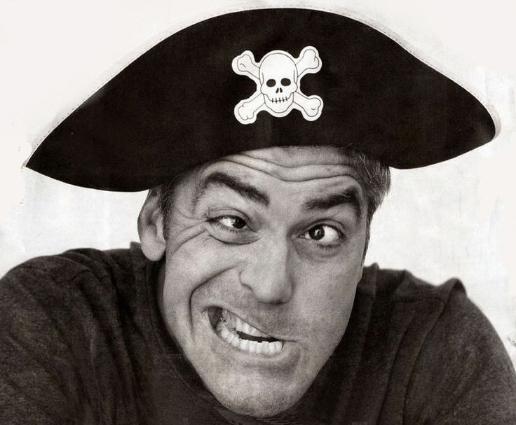 George Clooney. For some reason,  this is my favorite pirate picture ever! :)  LOL