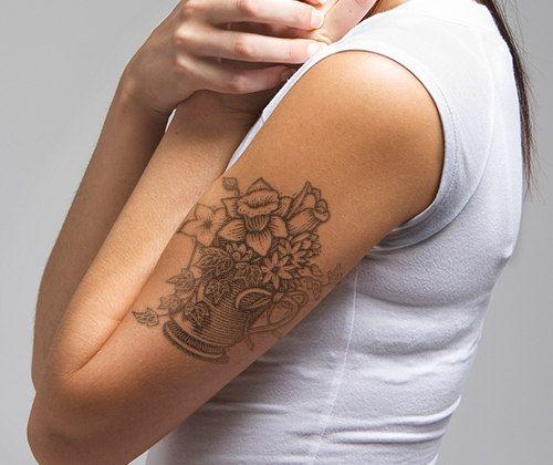 daffodil tattoo arm