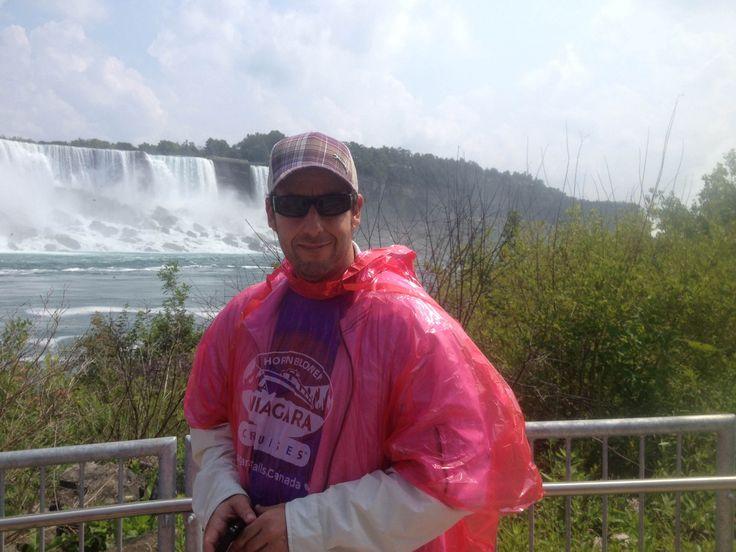 Adam Sandler visits Hornblower Niagara Cruises in Niagara Falls, Canada