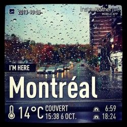 Enfin!?!? #automne. #meteo #montreal #quebec #instagram
