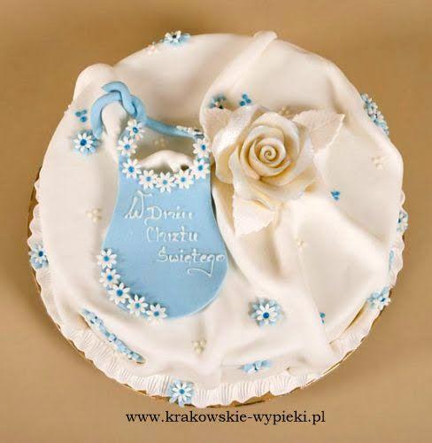 Tort z okazji Chrztu Świętego z Cukierni Krakowskie Wypieki