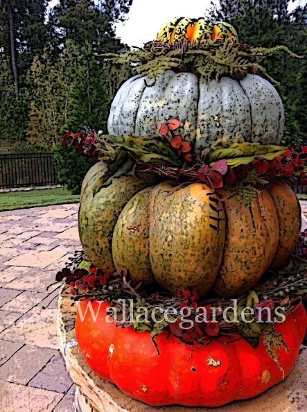tgif thank god it s fall y all, container gardening, flowers, gardening, seasonal holiday d cor, Stacked pumpkins