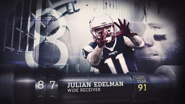 nfl top 100 players 2016 | Top 100 Players of 2016': No. 87 Julian Edelman | NFL - Yahoo ...