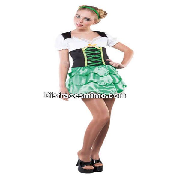 DisfracesMimo, disfraz duende verde san patricio adulto para mujer talla M.El disfraz duende verde san patricio mujer es perfecto para sorprender a amigos y familiares disfrazándote.Este disfraz es ideal para tus fiestas temáticas de disfraces del mundo,paises y regionales para mujer adultos.