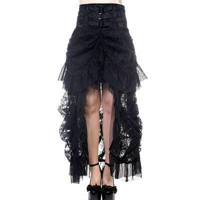 Victoriaanse kanten rok zwart - Gothic - S/NL36 - Banned