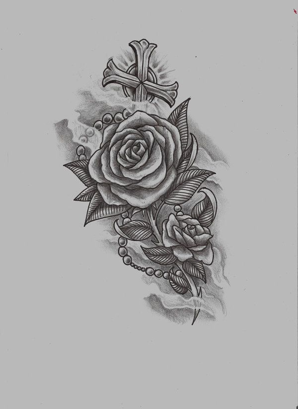rose n rosary raw by ~konZ3pt on deviantART
