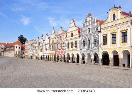 Square of city Telc, Unesco by Patrik Mezirka, via Shutterstock