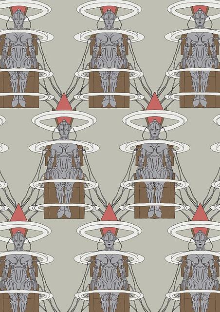 "Inspired by the film ""Metropolis"", Maria's transformation print by @Marina Molares: Marina Molar, Pattern Design, Pattern And, Marina Zlochin, Fine Art, Art Degre, Fabrics Pattern, Art Ba Hon, Surface Design"