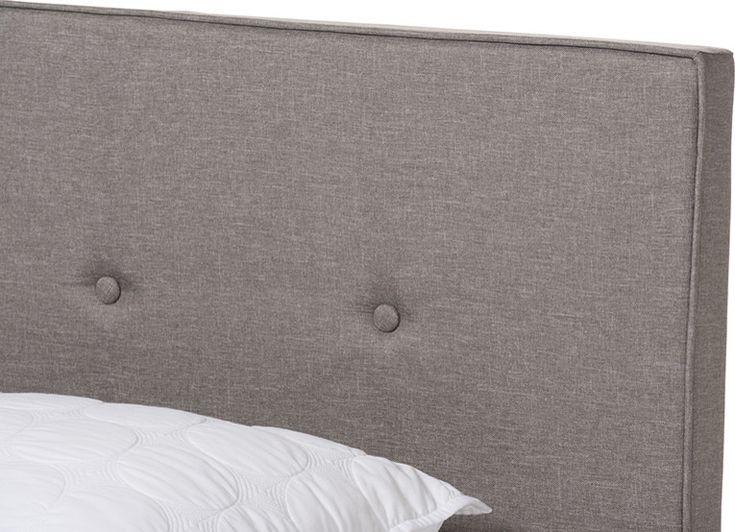Best Hampton Light Beige Fabric Upholstered Full Size Bed 640 x 480