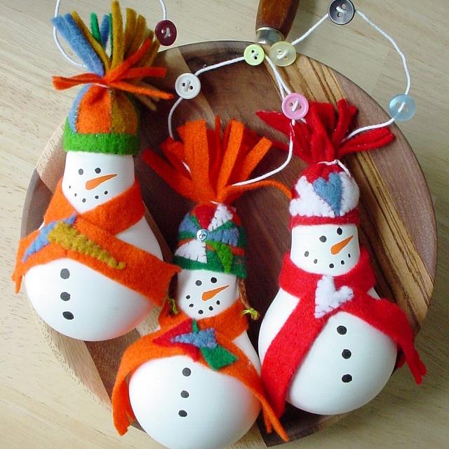 snowbulb ornaments - cute!