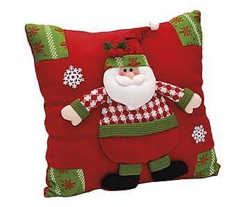 Almofada Papai Noel Star - 32x36cm