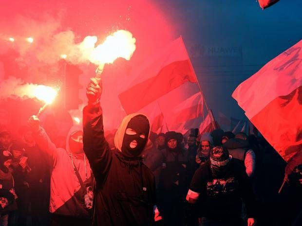 Fascists march in Warsaw for Polish Independence Day in one of 'world's biggest' far-right gatherings  One participant interviewed on state television says he was taking part 'to remove Jewry from power'