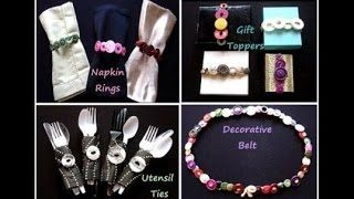 Buttons Crafts. Recycle buttons into pretty napkin rings, classy utensil ties, wonderful gift toppers & fun decorative belts!
