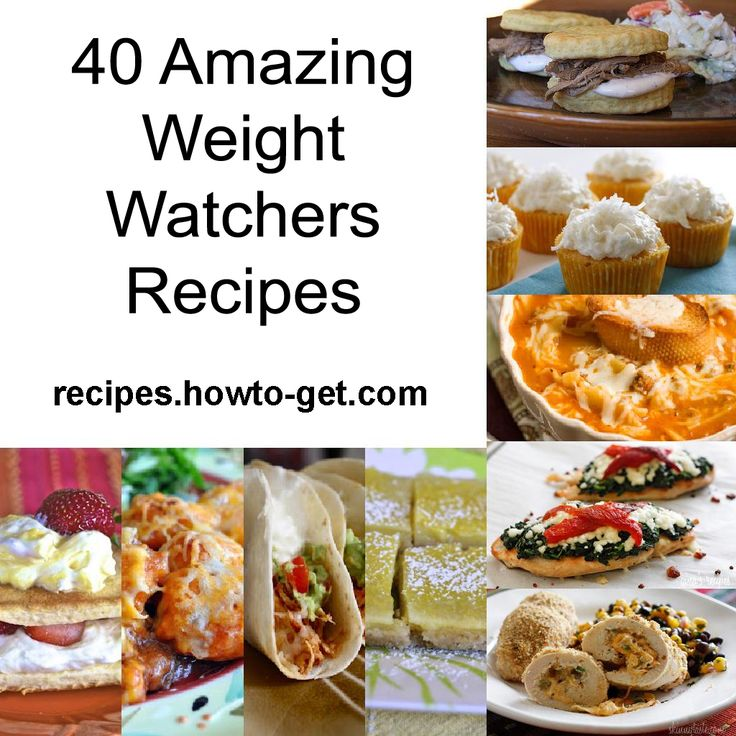 40 Amazing Weight Watchers Recipes