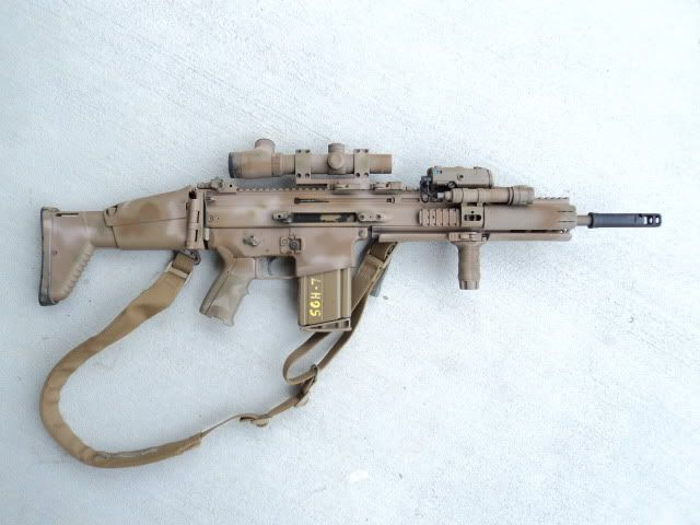 FN SCAR 17S with bells and whistles.