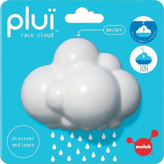Plui - regenwolk wit - 9x6.5x7 cm