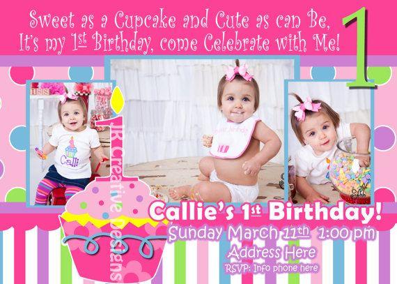 invite 1st birthday Pinterest Birthday sweets Birthdays and