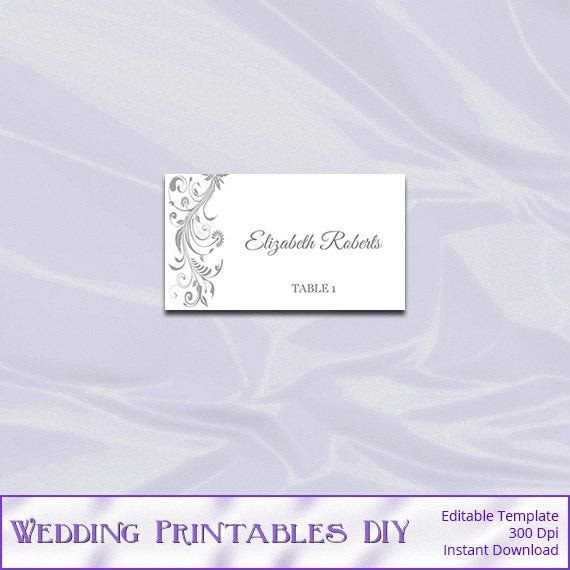 Staples Tent Card Template Best Of Silver Place Card Template Diy Printable Gray Wedding Tent Tent Cards Card Template Cards