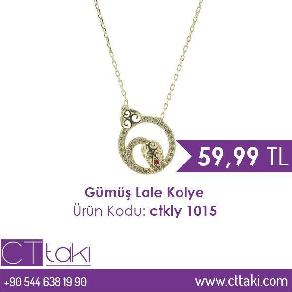 Gümüş Lale Kolye. 59,99 TL fiyatı ile CT Takı'da. #gümüş #lale #kolye #indirim #ucuz #fiyat #takı #tasarım #takıtasarım #aksesuar #şık #moda #trend #trends #kadın #women #cttakı
