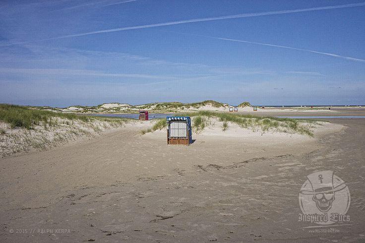 Landscape // #Nordsee #Amrum #Insel #Strandkorb #Strand #Kniepsand #Kueste #Meer #Fotografie #Fotograf #Photography #MeerART / gepinnt von www.KERPA.com