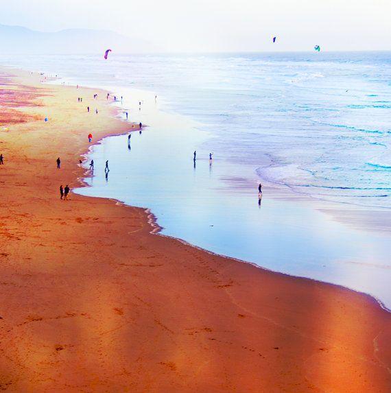 California Dreaming, Strand-Fotografie, quadratische Format, Landschaft, San Francisco California groß angelegte Art 20 x 20