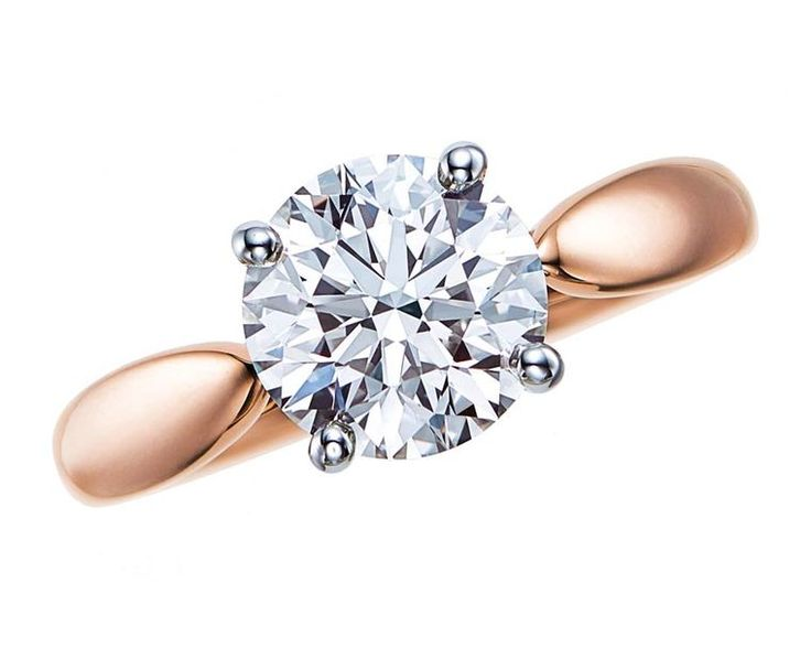 The ultimate declaration of love - @tiffanyandco Harmony™ rose gold #engagementring with a central solitaire #diamond.