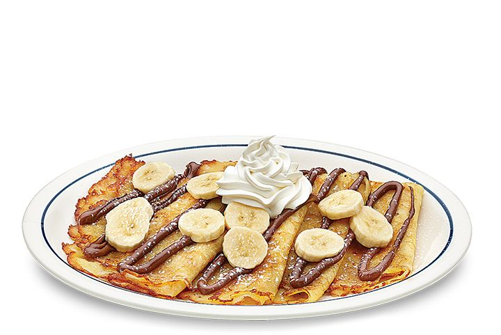 Four delicate crepes, fresh sliced banana and Nutella® all on one plate and waiting for you @IHOP. You'll fall in #IHOPLove