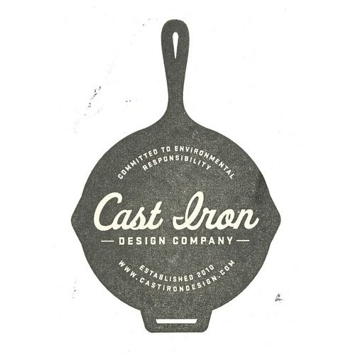 Cast Iron Design Company Logo Stamp in Coffee