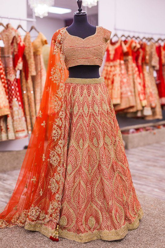 Love this red bridal lehenga. Click on image to know the price. #Frugal2Fab