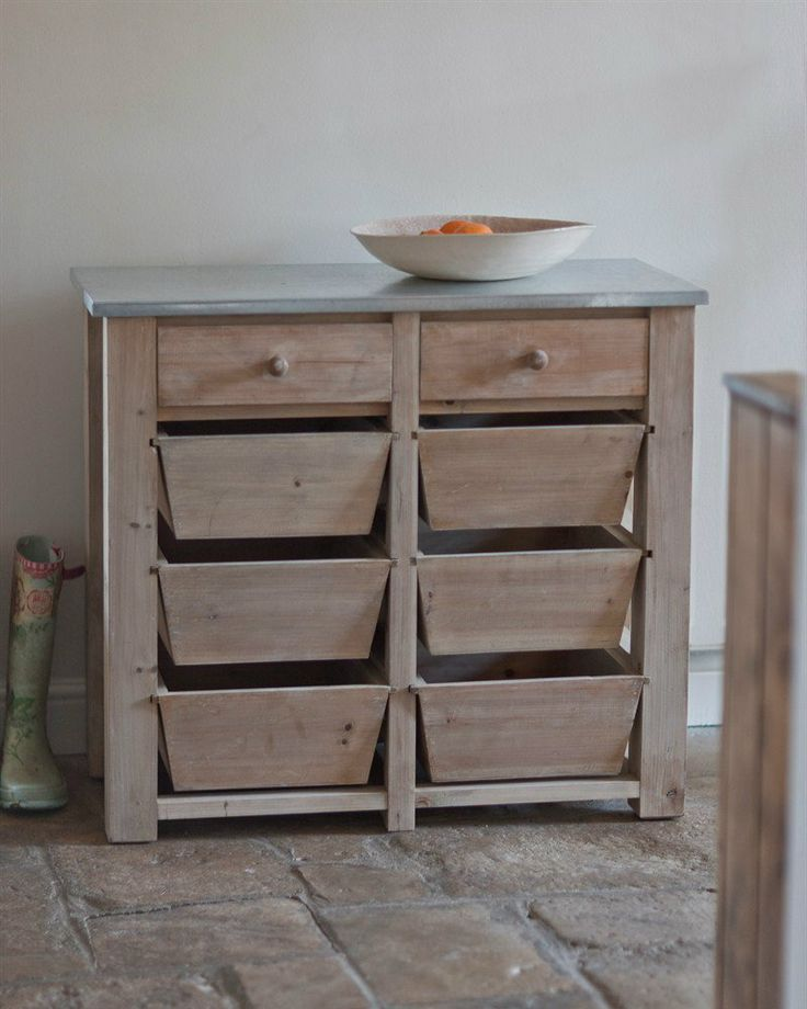 Vintage & Rustic Metal Top 8 Drawer Storage Unit | Unique Furniture from Great British Living