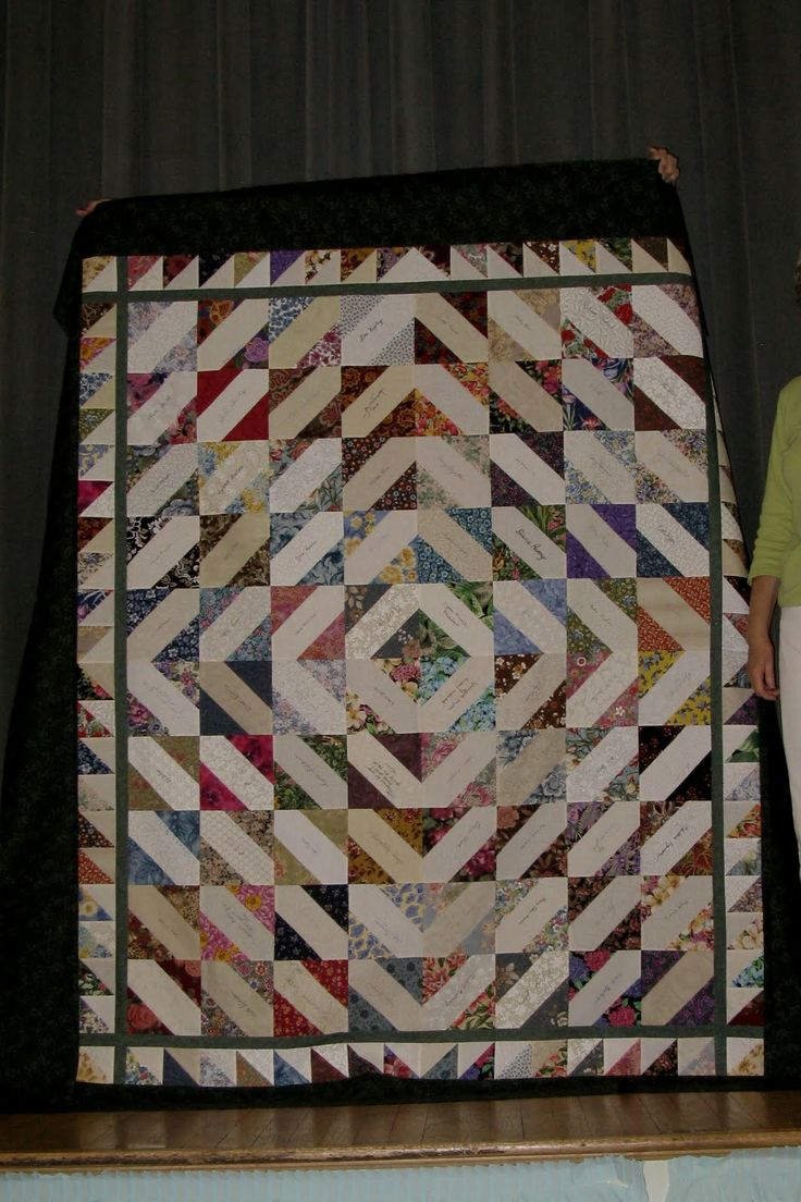 signature quilt idea. Cute idea for high school seniors