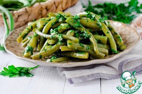 Грузинский салат из зеленой фасоли - кулинарный рецепт