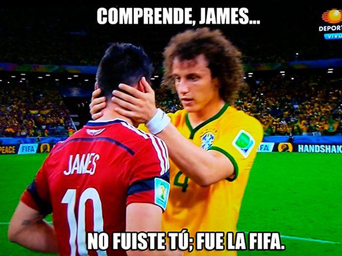 James Rodrigues y David Luiz Bra-Col Mundial 2014