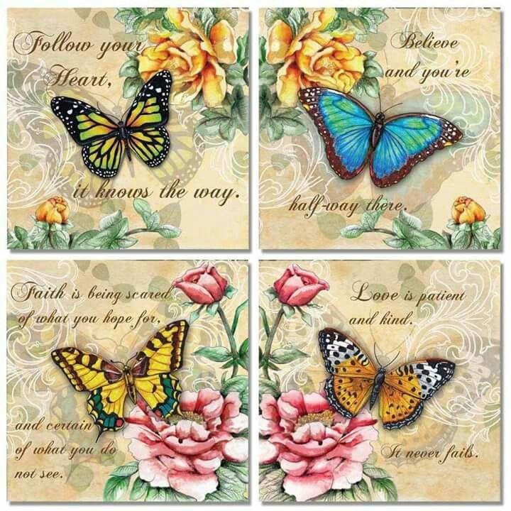 butterflies x 4