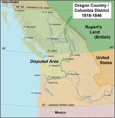 The Oregon Treaty of 1846 was an agreement with Great Britain that gave the U.S. undisputed claim to the Pacific Northwest south of the 49th parallel. The states carved out of this treaty are the present states of Oregon, Washington, Idaho and the southwest corner of Wyoming. This treaty with Great Britain was signed on June 12, 1846. Certified federal land patents were given free and clear title with no encumbrances.
