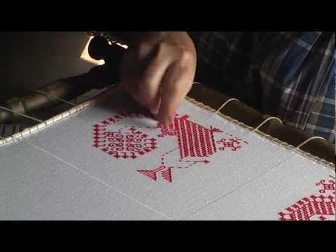Вышивка. Двусторонний шов |      Традиционные ремёсла и хозяйство |     Музей-заповедник «Кижи»