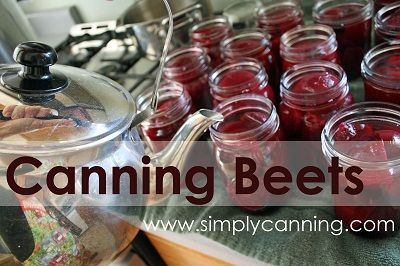 canning beets with a pressure canner.  SimplyCanning.com