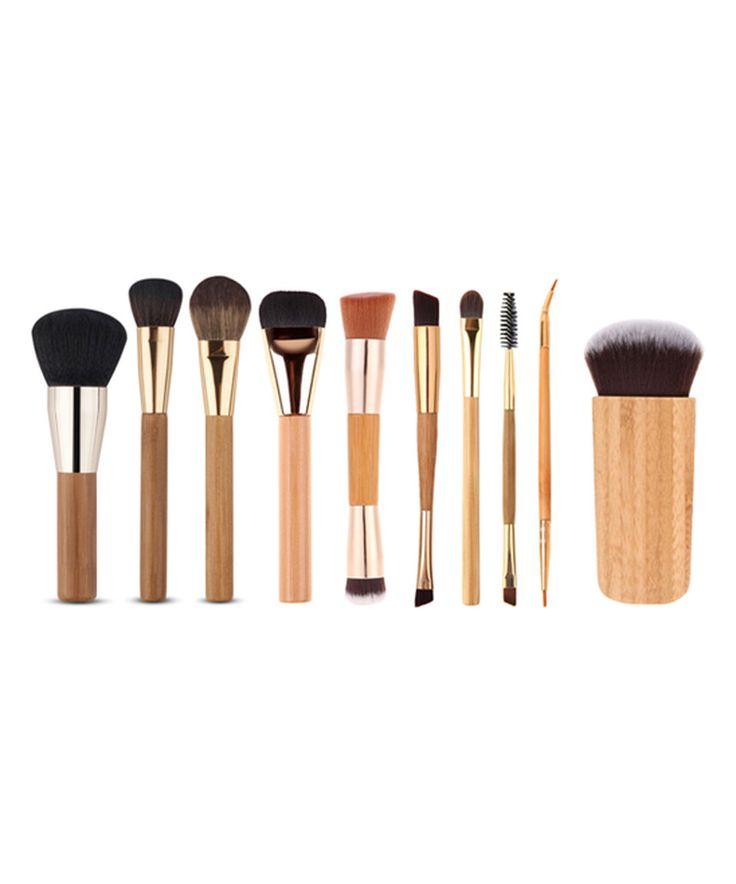 Take a look at this My Makeup Brush Set Wood 10-Piece Makeup Brush Set today!