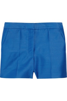 CARTNEY  High-waisted wool and silk-blend shorts    I LOVE these. i would live in them.